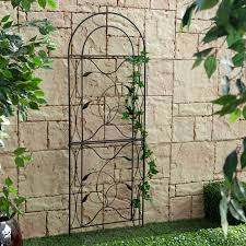 coral coast willow creek metal trellis black hayneedle