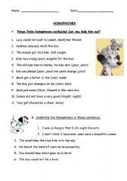 english teaching worksheets homophones