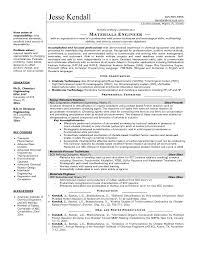 Engineering Technician Resume Sample by Glamorous Mechanical Engineering Resume Template Mechanical