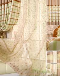 country plaid living room curtains drapes