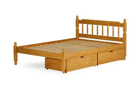 2 6 Bed Frame by Amani International Colonial Spindle Bed In 2 Parts Pine Waxed