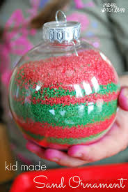 Decoration For Christmas Homemade by Kids Homemade Christmas Ornaments Mess For Less