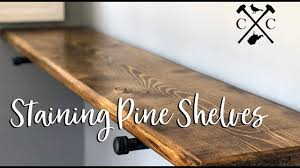 what stain looks on pine staining soft wood pine floating shelves cardinal creek llc