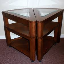 wedge shaped end table pair of wedge shaped end tables ebth