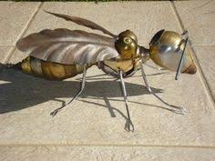 Metal Bugs Garden Decor Metal Bug Sculpture Yard Art Very Cute Yard Art Yards And Metals