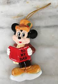vintage mickey mouse ornament to my dad christmas ornament walt