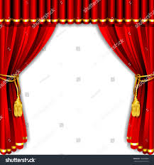 illustration silk stage curtain white backdrop stock vector
