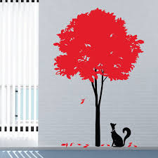 stylish tree wall sticker funky nature decor