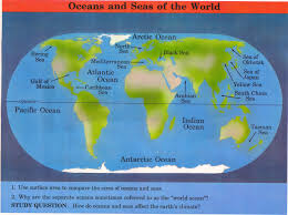 World Map With Seas by Calendar Fma 10