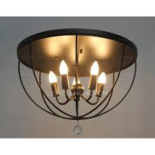 Iron Ceiling Light Ceiling Light Fixtures In 5 Light Black Wrought Iron