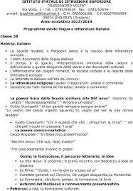 analisi testo lisabetta da messina programma svolto lingua e letteratura italiana pdf