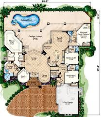 mediterranean floor plans with courtyard mediterranean house plan with bonus space floor master suite bonus