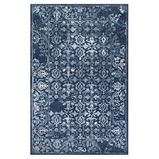 hgtv home design studio at bassett cu 2 ornate navy blue pattern area rug