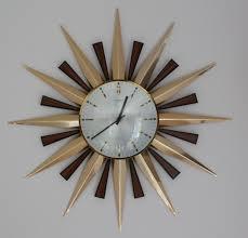 clock fascinating sunburst clock design elgin starburst clock