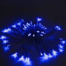 solar powered christmas lights aleko 60 led solar powered christmas string blue lights 16