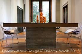 custom concrete and wood dining table rectangular zoom