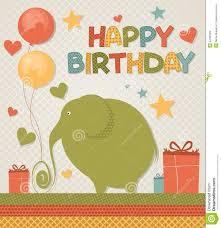 happy birthday card stock vector image 42190309