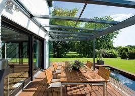 terrasse transparente toit transparent terrasse revêtements modernes du toit