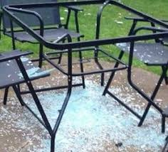 Patio Table Glass Shattered Glass Topped Tables Why They Shatter And How To Care For Them