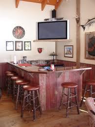Barnwood Bar Stools Reclaimed Barnwood Bar Rustic Family Room Other By