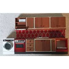 vintage lundby dolls u0027 house kitchen furniture 4 pieces oxfam