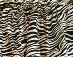 Zebra Valance Curtains Zebra Valance Etsy