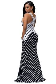 aliexpress com buy women white navy blue stripes maxi dresses