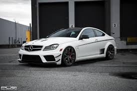 lowered mercedes barbaric mercedes benz c63 amg black series lowered on pur wheels