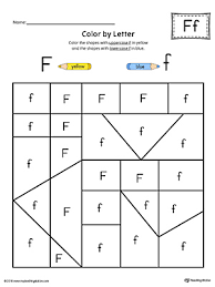 uppercase letter f maze worksheet color myteachingstation com