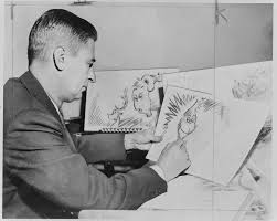 dr seuss ted geisel sketching how the grinch stole christmas photo