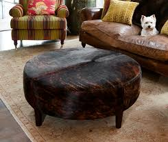 Cowhide Chair Australia Round Leather Ottoman From Gorgeous Creatures Cowhide Furniture