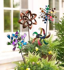 mini wind spinners set of 2 decorative garden accents mini