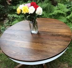 Oak Pedestal Table Antique Oak Pedestal Table Refinished In Annie Sloan Pure White