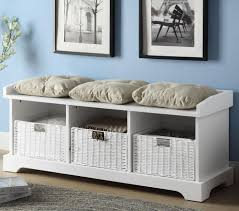 Gray Storage Bench Accent Benches Bedroom Interior Design