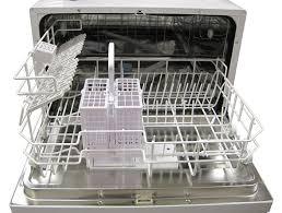 amazon com spt countertop dishwasher silver appliances