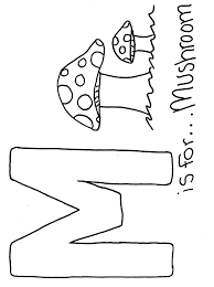 coloring letter m coloring page