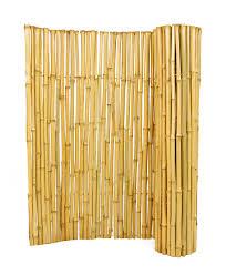 decorating interesting backyard design with nice bamboo fence