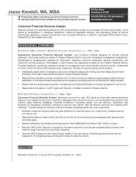 Resume Sample Finance by Free Consumer Financial Services Analyst Resume Example