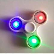 fidget spinner light up blue multi led light up fidget spinner blue walmart com