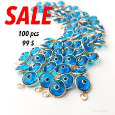 necklace charms wholesale images Evil eye charm bulk set 100 pcs evil eye beads turquoise evil jpg