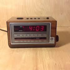 wall mounted digital alarm clock clock radio vintage late 1970 u0027s to early 1980 u0027s ge digital alarm