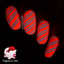 piggieluv sugared candy canes nail art video tutorial