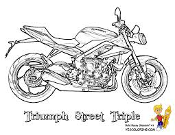 triumph motorcycle coloring street triple