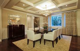 dining room wonderful white coffered ceiling with round