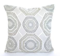 geo trend 16inch square throw pillow in greengrey ez living