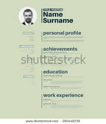 Resume Template Cool Vector Minimalist Cv Resume Template Nice Stock Vector 280440239