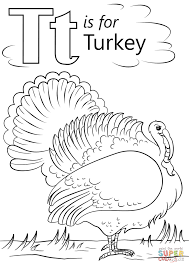 t is for turkey coloring pages coloring page
