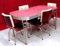 1950s kitchen furniture chrome and dining sets s ca s dining chairs high chrome and dining