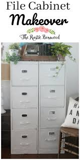 Chalk Paint On Metal Filing Cabinet Metal File Cabinet Makeover The Rustic Boxwood Diy Chalk