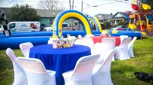 backyard birthday party ideas backyard birthday party guest tables from a backyard carnival